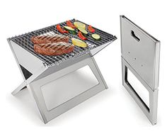 Stainless Steel Notebook Charcoal Grill