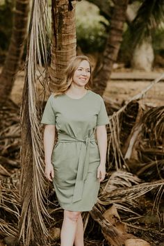 Ethical Christmas gift idea for conscious women from Kaiko Clothing! The super popular T-shirt Dress now available in the fresh earthy light green colour of Sage. The laid-back soft organic cotton T-shirt Dress comes with ribbons at the waist that you can tie either in the back or front. #giftidea #christmas #dress #ethicalfashion Ethical Fashion Brands, Ethical Clothing, Womens T Shirt Dress, Fashion Outfits, Womens Fashion, Fashion Group, Fashion Clothes, Organic Cotton T Shirts, Joko