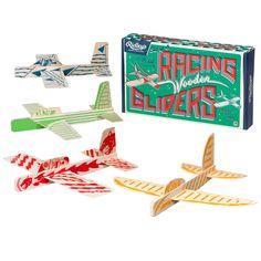 Racing Wooden Glider, Set of 4