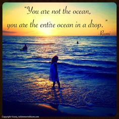 You are not the ocean