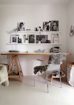 ♥ IKEA in the Office #ikea #shelves #storage #organization #office
