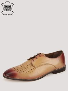 Buy Marcello & Ferri Tan Leather Derbys With Upper Perforations for Men Online in India Online Shopping Shoes, Shoes Online, Derby, Men Online, Formal Shoes, Tan Leather, Cole Haan, Oxford Shoes, Dress Shoes