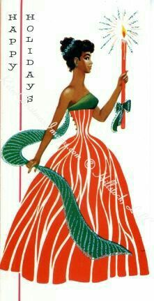 17 Beautifully Festive African-American Christmas Cards From The And – Christmas DIY Holiday Cards Vintage Greeting Cards, Christmas Greeting Cards, Christmas Greetings, Holiday Cards, Christmas Stickers, Vintage Ephemera, Black Christmas, Noel Christmas, Retro Christmas