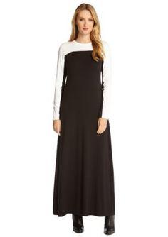 Karen Kane  Color Block Maxi Dress