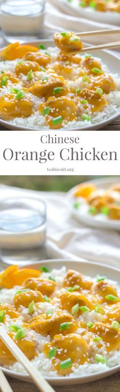 Chinese Orange Chicken - An easy Weeknight family supper with just a few simple ingredients!