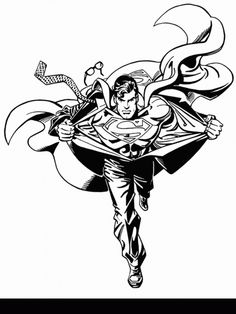 Superman Change Coloring Pages