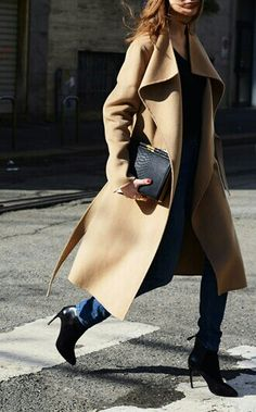 I love that coat, looks goo don a shiny winter morning and those killer heel ankle boots are to have, this winter season