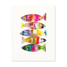 Watercolor Fish Art Print. by SnoogsAndWilde on Etsy