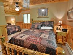 Vacation in Northwoods executive style and comfort at Cajun's Cove a beautiful vacation home rental on Lake Namakagon in Cable, Wisconsin only 20 miles from Hayward, WI. Vacation Home Rentals, Bedroom Loft, Full Bath, Interior, Furniture, Home Decor, Decoration Home, Room Decor, Bathroom