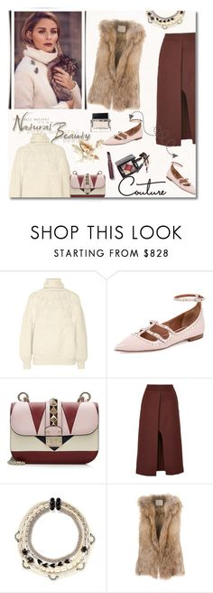 """Natural Beauty: Olivia Palermo"" by junglover ❤ liked on Polyvore featuring Oscar de la Renta, Givenchy, Valentino, Rosetta Getty, Miriam Haskell, Laneus, Laura Mercier, Yves Saint Laurent and BaubleBar"
