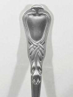 Heinrich VOGELER Worpswede Jugendstil Art Nouveau Silber Löffel ° Herbstzeitlose