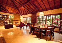 Sala Estar/ Jantar: Salas de jantar translation missing: br.style.salas-de-jantar.rústico por Jaqueline Vale Arquitetura