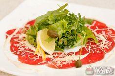 Receita de Carpaccio de salmão defumado em receitas de peixes, veja essa e outras receitas aqui!
