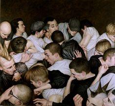 dan witz(1957- ), mosh pit, 2001. oil on canvas 48 x 46. http://www.danwitz.com/index.php?article_id=52