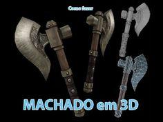 Aprenda a modelar um machado em 3d e texturiza-lo!!!