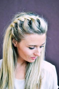 DIY: Half-Up Side French Braid @Liz Mester Mester Gregovich - my hair for your wedding?
