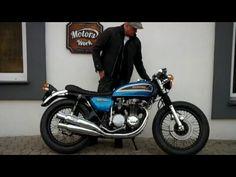 Cafe Racer Honda cb 500 four - starter and kick, Motors Work Vintage Garage www.motorswork.pl - YouTube