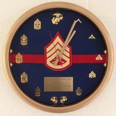 Marine Corps Dress Blues Clock. $100.00, via Etsy.