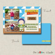 Check out our toy story invitation selection for the very best in unique or custom, handmade pieces from our shops. Toy Story Invitations, Birthday Coupons, Coupon Codes, Coding, Baseball Cards, Toys, Handmade, Activity Toys, Hand Made