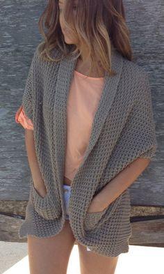 Khaki Knit Shawl