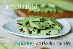 {Healthy} Mint Chocolate Chip Fudge