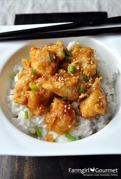 Can't wait to try this Oven-Fried version of Orange Chicken!! - from my friend @Heather Scholten [Farmgirl Gourmet]