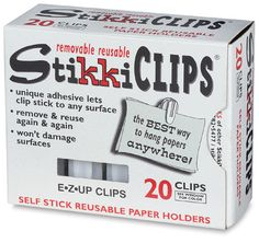 I used to always use masking tape to attach posters and stuff to my classroom walls. That is, until I found Stikki Clips! I love them! They are so easy to use and reuse. They literally last forever. And my posters NEVER fall off the walls anymore.