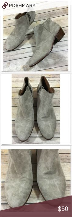 f129ca1ac92f Sam Edelman Petty Zip Ankle Booties 8.5 Suede Tan Sam Edelman Women s Petty  Zip Ankle Booties. Putty taupe color Suede Leather.