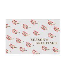 Berries Seasons Greetings Card