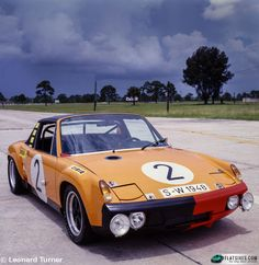 Running in Group 4 trim at the 1970 Marathon de la Route, 914/6 GT #2 finished third behind its two sister cars running in Group 6.  The three 914/6 GTs scored a hat trick for Porsche in an event that saw only 23 of 64 starters make it to the finish.