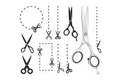 Set of scissors - Illustrations
