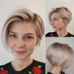 Short Bob Cuts for Stylish Ladies Short Bob Cut Dark Brown Short Bob Style for Women Short Blonde Bob Style Short Hairstyle Blonde Bob Haircut Fine Hair Open Next Page To See More. Straight Brown Hair Choppy Look Pixie Bob Side frisuren frauen Bob Cuts For Women, Bob Haircuts For Women, Short Bob Haircuts, Short Hairstyles For Women, Pixie Bob Haircut, Women Short Hair, Stacked Haircuts, Haircut Short, Popular Hairstyles