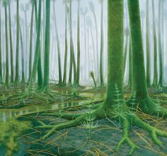 Lycopsid Forest as found at Joggins, Nova Scotia, Canada