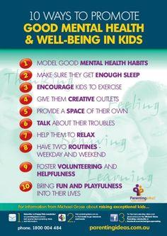 Mental health and wellness in kids.