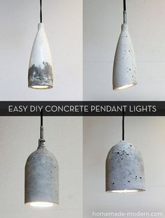 How To: Make Easy Modern DIY Concrete Pendant Lights » Curbly | DIY Design Community