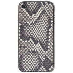 iPhone 4/4S Leather Back Python, $54, now featured on Fab.
