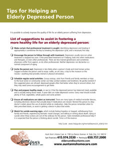 Tips for Helping an Elderly Depressed Person #tips #depression #eldercare