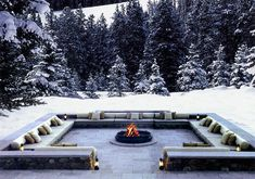 The Chedi #Andermatt dining courtyard in #winter