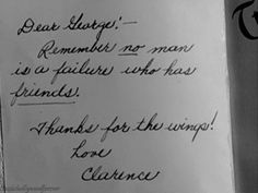 it's a wonderful life. the ending.
