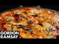 How to Make Margherita Pizza at Home - Gordon Ramsay. Love the pan idea!