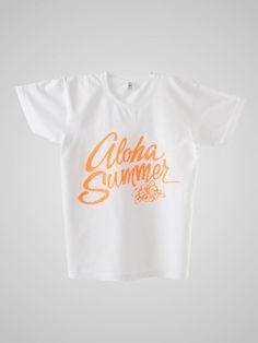スクリーンプリントパワーウォッシュT- Aloha Summer
