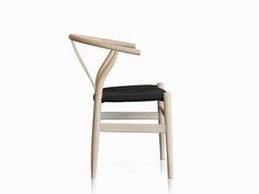 REPLICA HANS WEGNER WISHBONE Dining Chair - Mosman Chalk & Black Hans Wegner, Wishbone Chair, Dining Chairs, Kitchen, Black, Decor, Cooking, Decoration, Black People