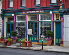 Art & Glassworks, 319 N. Queen St., Lancaster, PA.  A favorite shop in downtown Lancaster.