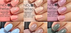 Hey all! I'm a little behind the times, but better late than never. This is the CND Shellac Contradictions Collection that was released in the Fall. These six shades are available in the C… Shellac Nail Colors, Shellac Nails, Dandelion Color, Fake Gel Nails, Couture Nails, Minx Nails, Manicure At Home, Nail Studio, Natural Nails