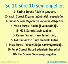 Su 10 sure 10 seyi engeller . - Dilek Bayrak - # Å . Quran Pdf, English Writing, Islam Quran, More Than Words, Islamic Quotes, Good To Know, Cool Words, Allah, Quotations