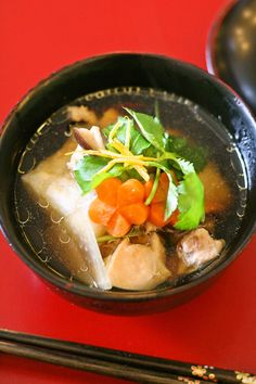 Ozouni is the traditional Japanese mochi soup for New year's. There are many regio...