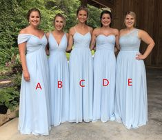 Light Blue Chiffon Bridesmaid Dresses, Cheap Long Bridesmaid Dresses, from Tidedress Bridesmaid Dresses light blue bridesmaid dresses Light Blue Bridesmaid Dresses, Wedding Bridesmaid Dresses, Wedding Party Dresses, Wedding Parties, Bridesmaids With Different Dresses, Tiffany Blue Bridesmaids, Wedding Store, Party Gowns, Marie