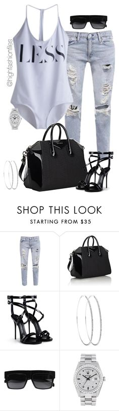 """Less is..."" by highfashionfiles ❤ liked on Polyvore featuring Ralph Lauren, Givenchy, Giuseppe Zanotti, CÉLINE and Rolex"