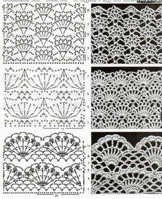 Captivating Crochet a Bodycon Dress Top Ideas. Dazzling Crochet a Bodycon Dress Top Ideas. Crochet Edging Patterns, Crochet Diagram, Crochet Chart, Filet Crochet, Irish Crochet, Crochet Designs, Crochet Lace, Knitting Patterns, Crochet Blouse