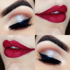 21 Rote Lippen Make-up Ideen Rote Lippen Make-up I. - 21 Rote Lippen Make-up Ideen Rote Lippen Make-up Ideen Lippen … 21 Rote L - Pin Up Makeup, Red Lip Makeup, Makeup Goals, Makeup Inspo, Makeup Inspiration, Face Makeup, Makeup Ideas, 50s Makeup, Crazy Makeup